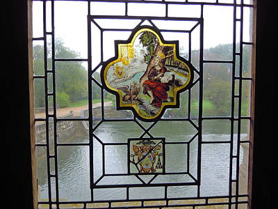 Photograph - Stained Glass And Moat by Ellen Meakin