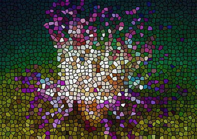 Doughboy Painting - Stained Glass Anemone 2 by Lanjee Chee