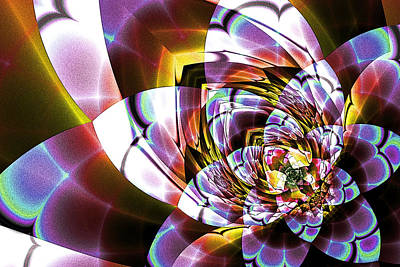 Digital Art - Stained Glass Blossom by Kiki Art