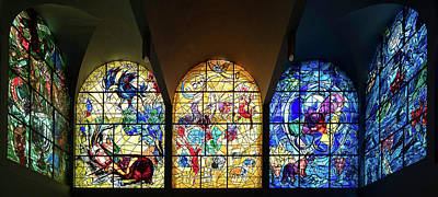 Chagall Photograph - Stained Glass Chagall Windows by Panoramic Images