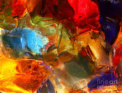 Stained Glass Photograph - Stained Glass Closeup by Kerstin Ivarsson