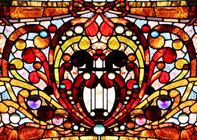 Photograph - Stained Glass Details by Kristin Elmquist
