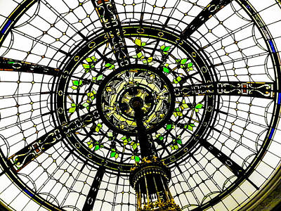 Metropolitan Museum Of Art Photograph - Stained Glass Dome by Jon Woodhams