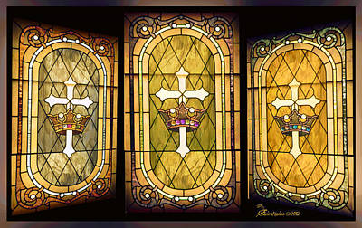 Photograph - Stained Glass Gold by EricaMaxine  Price