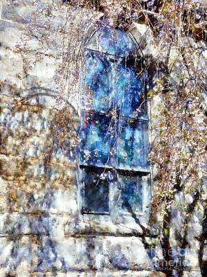 Photograph - Stained Glass Grace - Church Window by Janine Riley