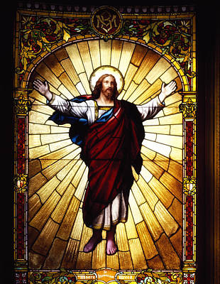 Glass Art Glass Art - Stained Glass Jesus by Mountain Dreams