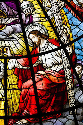 Stained Glass Jesus Print by Dancasan Photography
