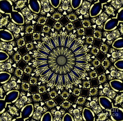 Photograph - Stained Glass Kaleidoscope 04 by Rose Santuci-Sofranko