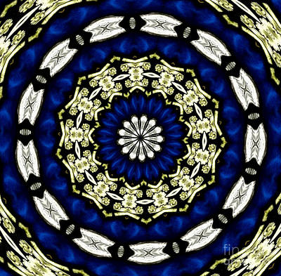 Photograph - Stained Glass Kaleidoscope 05 by Rose Santuci-Sofranko