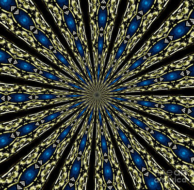 Photograph - Stained Glass Kaleidoscope 06 by Rose Santuci-Sofranko