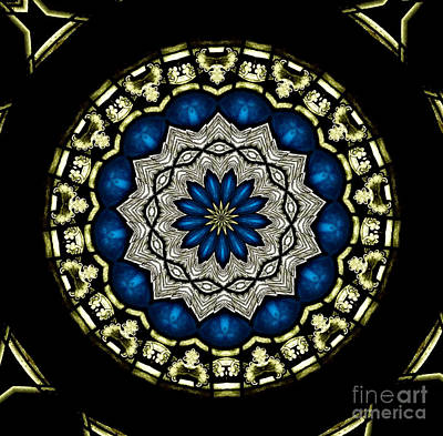 Photograph - Stained Glass Kaleidoscope 07 by Rose Santuci-Sofranko