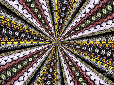 Stained Glass Kaleidoscope 1 Art Print by Rose Santuci-Sofranko