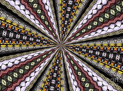 Stained Glass Kaleidoscope 1 Original by Rose Santuci-Sofranko