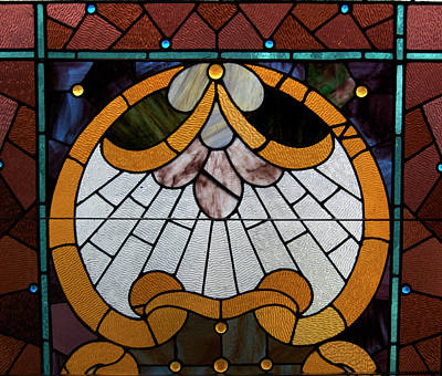 Stained Glass Lc 09 Art Print by Thomas Woolworth