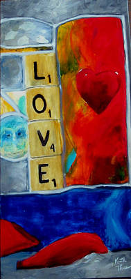 Painting - Stained Glass Love by Keith Thue