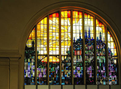 Stained Glass Luxembourg Art Print by Victoria Harrington