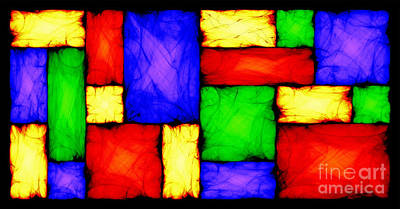 Algorithmic Digital Art - Stained Glass - Move To The Right by Sander Kleynend