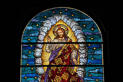 Stained Glass Pc 03 Art Print by Thomas Woolworth