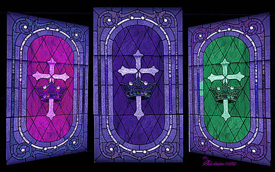 Photograph - Stained Glass - Purple by Ericamaxine Price