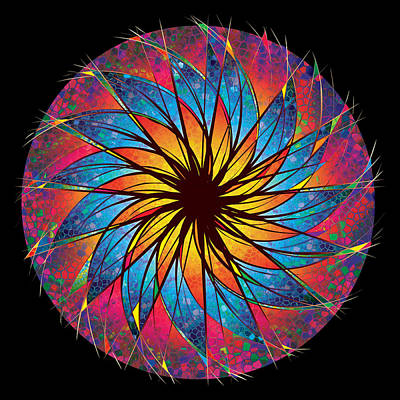 Digital Art - Stained Glass by Robert Conway