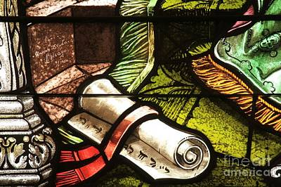 Photograph - Stained Glass Scroll by Adam Jewell