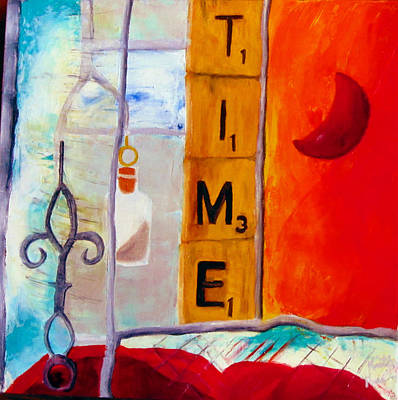 Stained Glass Time Art Print by Keith Thue