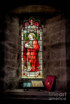 Bible Photograph - Stained Glass Window 2 by Adrian Evans