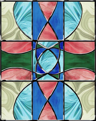 Digital Art - Stained Glass Window 2 by Shawna Rowe