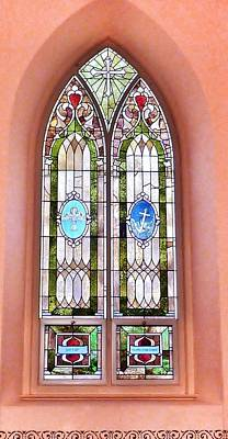 Photograph - Stained Glass Window 2 by Susan Garren