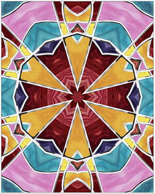 Digital Art - Stained Glass Window 4 by Shawna Rowe