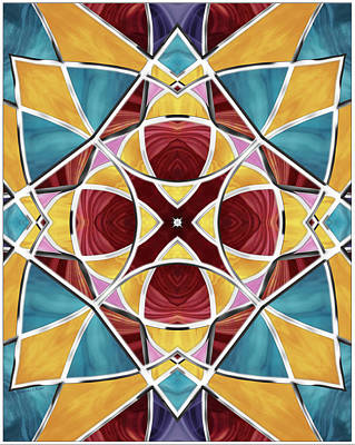 Digital Art - Stained Glass Window 5 by Shawna Rowe