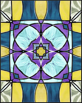 Digital Art - Stained Glass Window 7 by Shawna Rowe