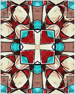 Digital Art - Stained Glass Window 9 by Shawna Rowe
