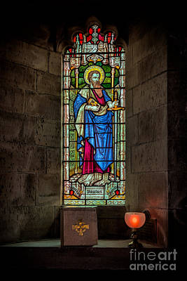 Bible Photograph - Stained Glass Window  by Adrian Evans