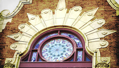 Photograph - Stained Glass Window Architecture Detail by Ann Powell