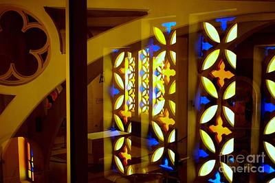 Digital Art - Stained Glass Window At Church Of St Peter In Gallicantu In Israel by Eva Kaufman