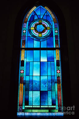 Stainglass Photograph - Stained Glass Window, Idaho by William H. Mullins