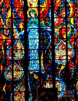 Photograph - Stained Glass Window by John Potts
