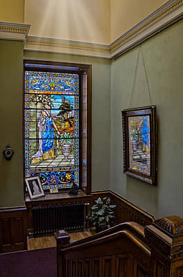 Photograph - Stained Glass Window Memorial by Susan Candelario