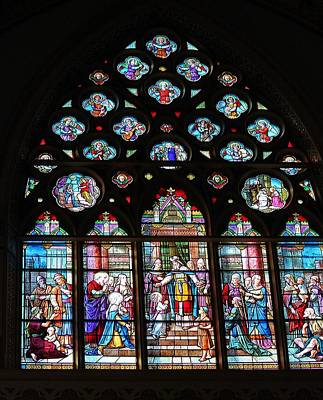 Photograph - Stained Glass Window by Michael Saunders