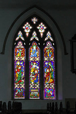 Photograph - Stained Glass Window by Tony Murtagh