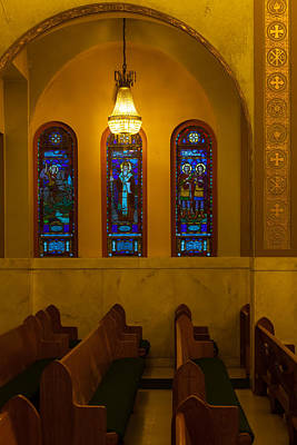 Photograph - Stained Glass Windows At St Sophia by Ed Gleichman