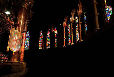 Stained Glass Windows Near The Altar,st Art Print by Panoramic Images