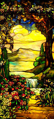 Art Glass Mosaic Photograph - Stained Landscape 2 by Donna Blackhall