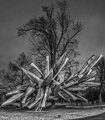 Photograph - Stainless Steel Aluminum Monochrome I - Bw by Chris Bordeleau