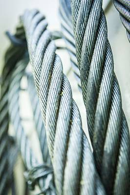 Stainless Steel Ropes Print by Gustoimages