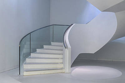 Wall Art - Photograph - Stair And Lightspot by Theo Luycx