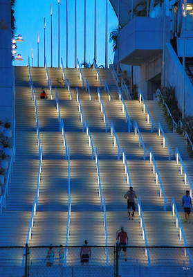 San Diego Convention Center Photograph - Stair Master by Russ Harris