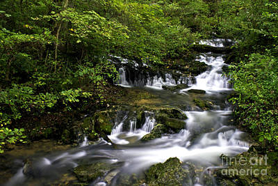 Photograph - Stair Step Falls Three by Ken Frischkorn