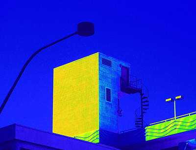 Street Lamps Digital Art - Stair To Where 3 by Randall Weidner